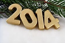 Free 2014 Year Golden Figures Stock Images - 33755604