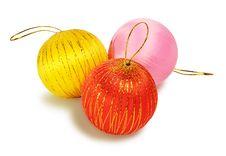 Free Three Christmas Balls Stock Photo - 33756340