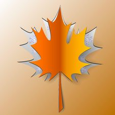 Free Maple Autumn Leaf Cut From Paper Royalty Free Stock Images - 33757749