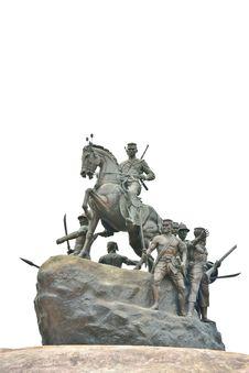 Free King Naresuan Statue On White Backgroun Stock Photo - 33758370