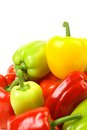 Free Multi-colour Peppers On A White Background. Stock Photos - 33763083