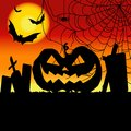 Free Halloween Pumpkin Background / Card Stock Photo - 33765360