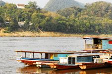Free Mekong River, Laos ,Luang Prabang. Stock Photo - 33761450