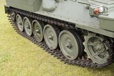 Free Tracks Of A Military Armoured Vehicle. Royalty Free Stock Images - 33761789