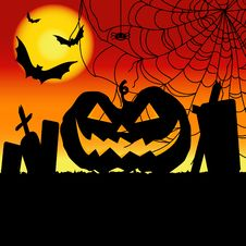 Free Halloween Pumpkin Background / Card Stock Photo - 33765360