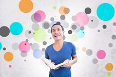 Free Student With Colorful Background Royalty Free Stock Photography - 33765987