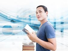 Free Student With Book Stock Photo - 33766190