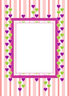 Free Greeting Card With Hearts Stock Images - 33767134