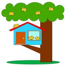 Free Birds Tree House Stock Photography - 33769502