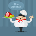 Free Cheerful Chef Holding A Platter Royalty Free Stock Images - 33774569