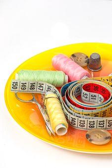 Free Set Of Seamstress For Needlework Stock Photos - 33773133
