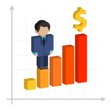 Business Graph, Profit Growth Royalty Free Stock Image