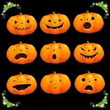 Free Pumpkins Halloween Stock Photography - 33775032