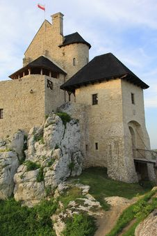 Bobolice Castle Ruins Poland. Stock Photography