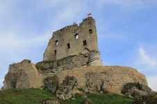 Mirów Castle Ruins Poland. Royalty Free Stock Photography