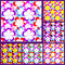 Free Abstract Seamless Pattern With Flowers - Set Of Si Stock Photography - 33778152