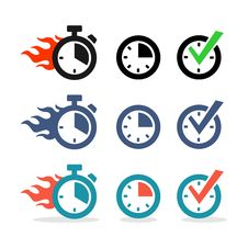 Free Web Icons Set. Time, Stopwatch, Clock Stock Photo - 33782650