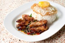 Rice With Stir Fried Stock Image