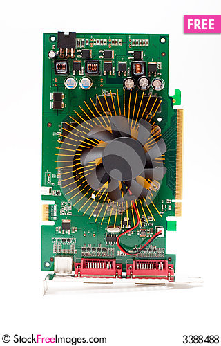 Free Circuit Board - Video Card Royalty Free Stock Photos - 3388488