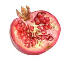 Free Red Ripe Pomegranate Royalty Free Stock Photo - 3380115