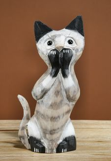 Cat Figurine Decor Stock Photo