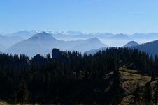 Mountains In Haze Stock Photo
