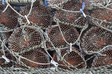 Free Lobster Pots Royalty Free Stock Photos - 3382248