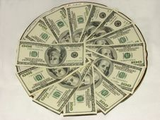 Free Circle Of Dollars Stock Photo - 3382780