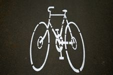 Cyclelane Sign On Tarmac Stock Photography