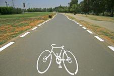 Cyclelane Sign On Tarmac Stock Image