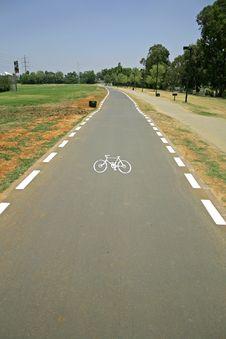 Cyclelane Sign On Tarmac Royalty Free Stock Image