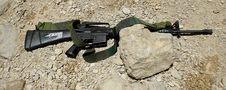 M16 Machine Gun Royalty Free Stock Photo