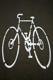 Cyclelane Sign On Tarmac Stock Photos
