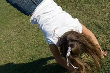 Free Young Girl Doing A Handstand Royalty Free Stock Photography - 3383627