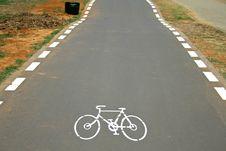 Cyclelane Sign On Tarmac Royalty Free Stock Photo