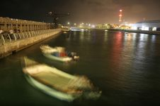 Free Jetty By Night; Tel Aviv Royalty Free Stock Image - 3383866