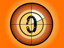 Free Circle Countdown - At 0 Royalty Free Stock Photo - 3384485