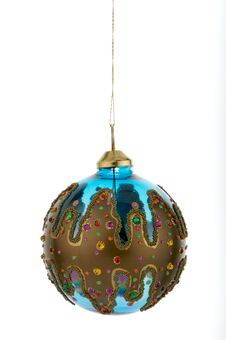 Christmas Decoration Blue Royalty Free Stock Photography
