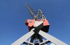 Harbour Crane Stock Image