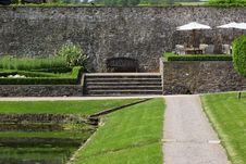 Ancient Walled Garden Stock Photography