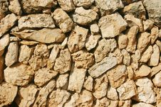Free Mediterranean Stone Wall Stock Photography - 3385102