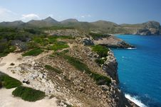 Wanderers At Majorca S Coast Stock Photography