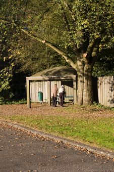 Free Grandparents In The Park Stock Photos - 3387453
