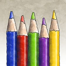 Free Colored Pencils Stock Photo - 3387850