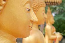 Free Golden Buddhist Statue Royalty Free Stock Photo - 3388165