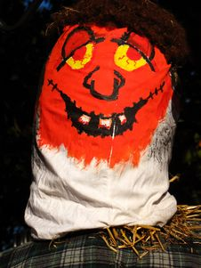 Free Halloween Scarecrow Face Royalty Free Stock Photography - 3388887