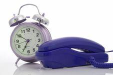 Telephone And Alarm Clock Royalty Free Stock Photo