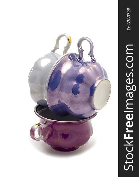 Colored tea cup