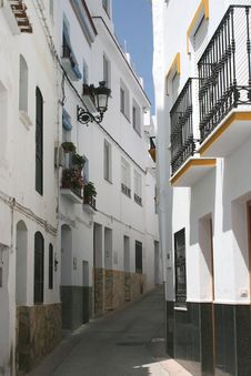 Charming Street With White Houses, Sevilla, Andalusia,  Spain