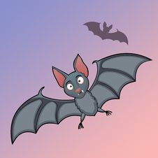 Free Bats Cartoon In Fly Stock Image - 33809431